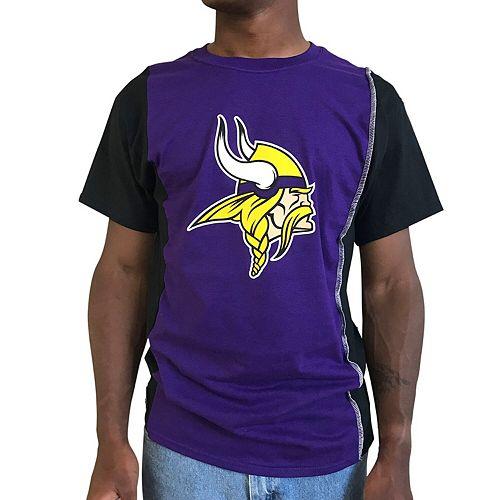 Men's Refried Apparel Purple/Black Minnesota Vikings Upcycled Split T-Shirt