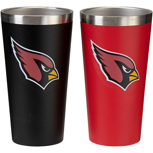 Arizona Cardinals Team Color 2-Pack Stainless Steel Pint Glass