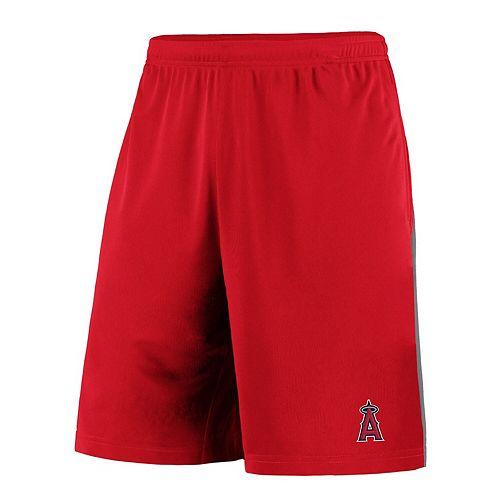 Men's Fanatics Branded Red/Gray Los Angeles Angels Crossbar Shorts