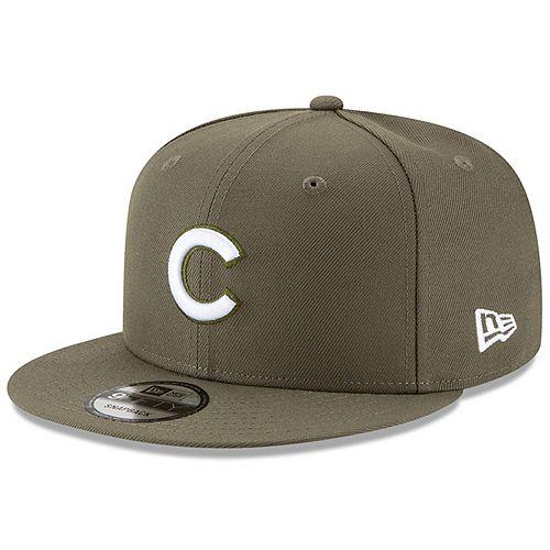 Men's New Era Olive Chicago Cubs Basic 9FIFTY Adjustable Snapback Hat