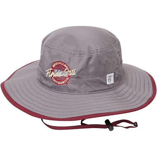Men's The Game Gray Florida State Seminoles Classic Circle Ultralight Adjustable Boonie Bucket Hat