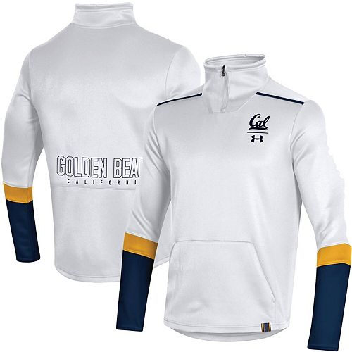 Men's Under Armour White Cal Bears Logo Quarter-Zip Jacket