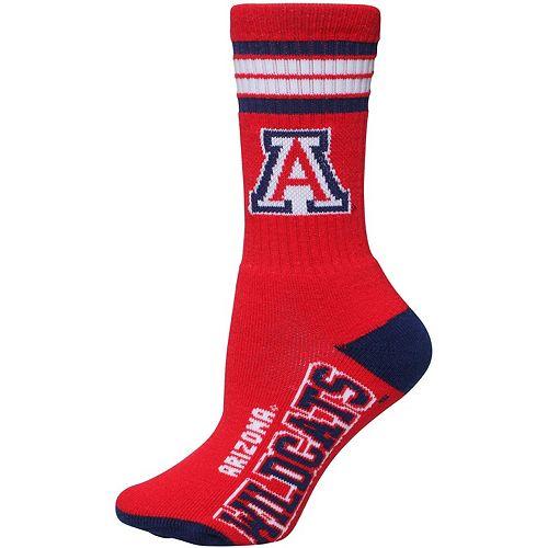 Women's For Bare Feet Arizona Wildcats Four Stripe Socks