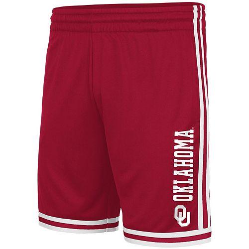 Men's Colosseum Crimson Oklahoma Sooners Half Court Shorts