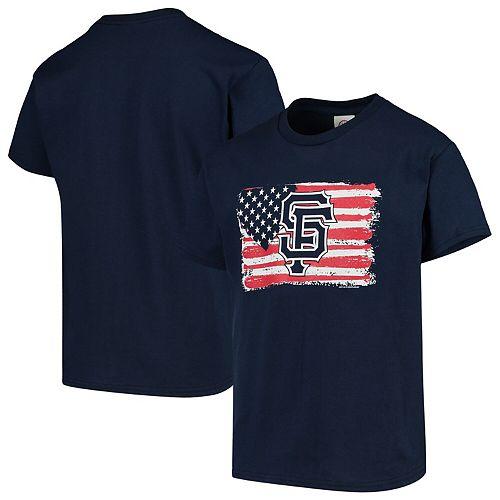 Youth Soft as a Grape Navy San Francisco Giants Stars & Stripes Americana T-Shirt