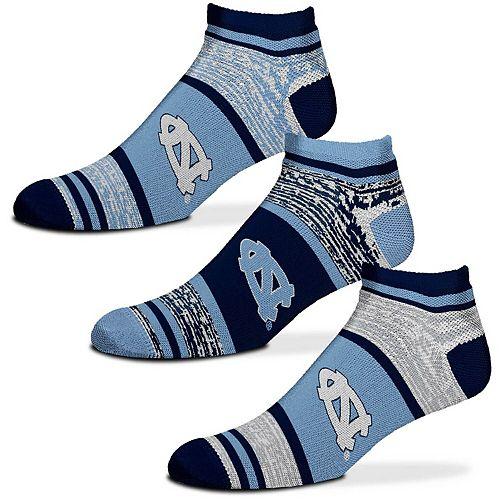 For Bare Feet North Carolina Tar Heels Triplex Heathered 3-Pack Sock Set