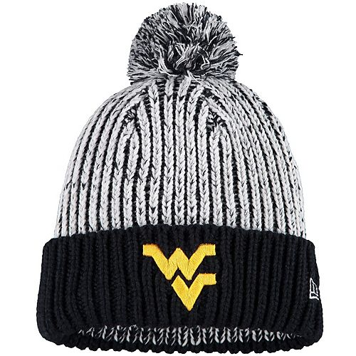 Women's New Era Navy West Virginia Mountaineers Sporty Cuffed Knit Hat with Pom
