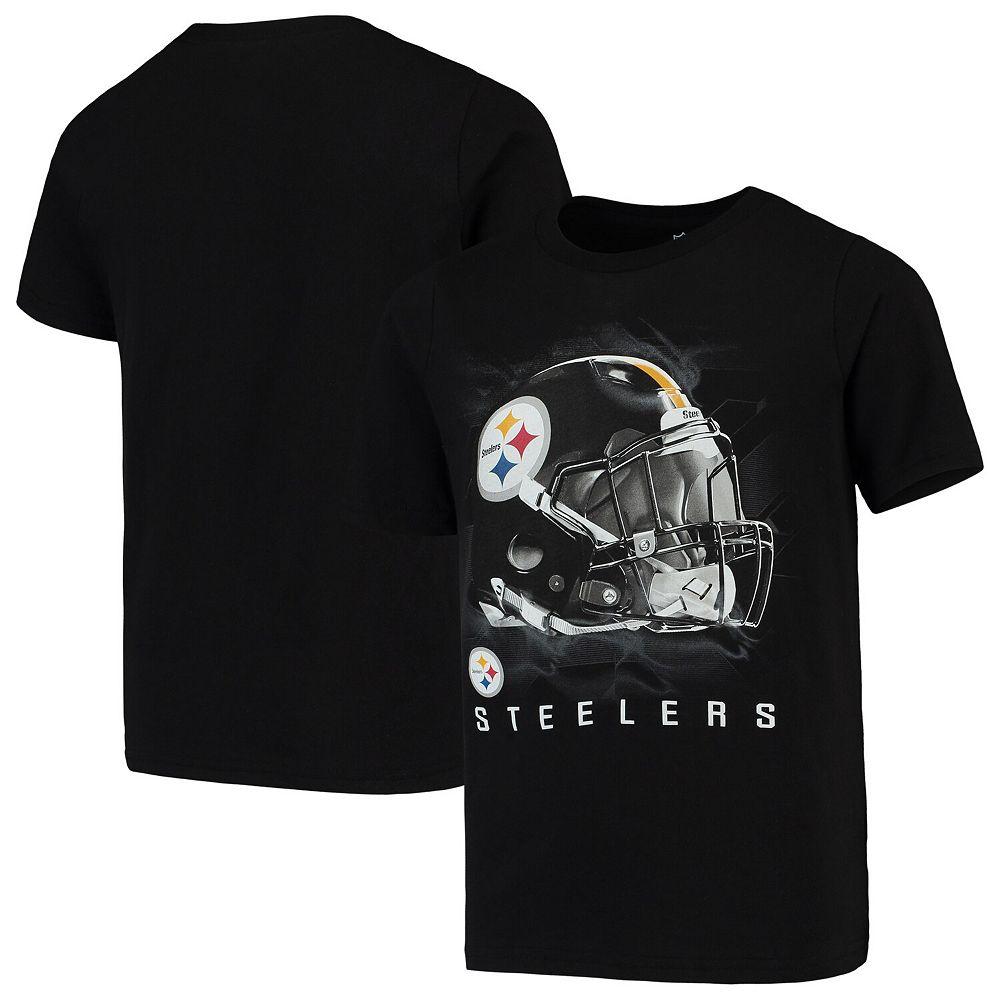 Youth Black Pittsburgh Steelers Flex T-Shirt