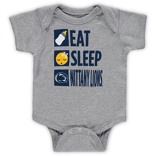 Infant Heathered Gray Penn State Nittany Lions Daily Agenda Creeper