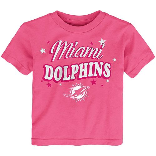 Girls Infant Pink Miami Dolphins My Team T-Shirt
