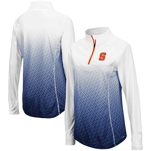 Women's Colosseum Navy Syracuse Orange Magic Ombre Quarter-Zip Raglan Jacket