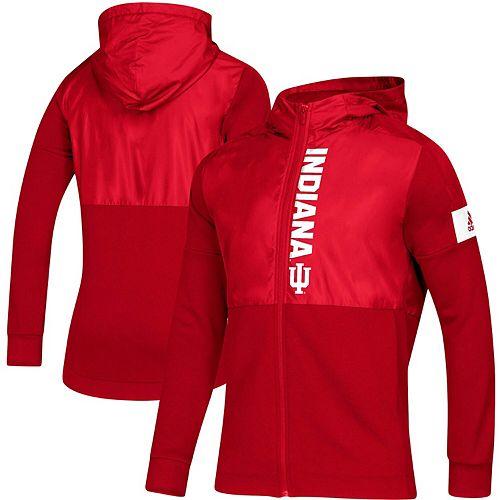 Men's adidas Crimson Indiana Hoosiers 2019 Sideline Game Mode Full-Zip Jacket