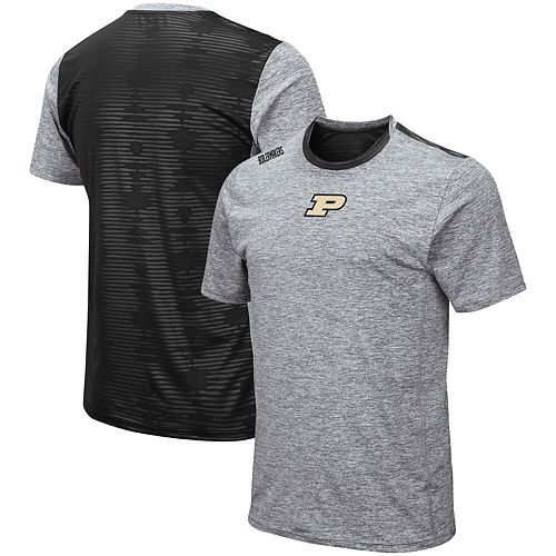Men's Colosseum Heathered Gray Purdue Boilermakers Bart Rival T-Shirt