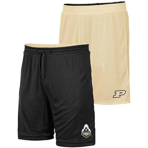 Men's Colosseum Gold/Black Purdue Boilermakers Wiggum Reversible Shorts