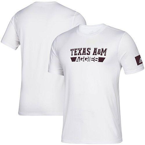Men's adidas White Texas A&M Aggies 2019 Sideline Practice climalite Creator T-Shirt