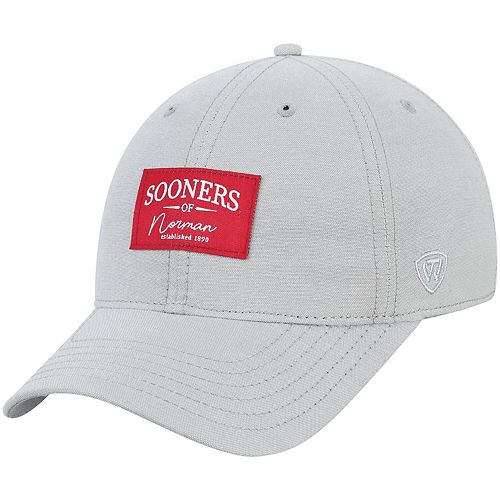 Men's Top of the World Gray Oklahoma Sooners Chambray Ante Adjustable Hat