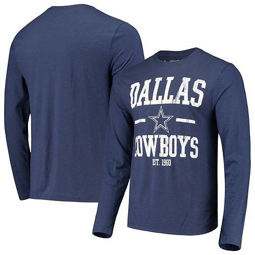 Men's Navy Dallas Cowboys Magnus Slub Long Sleeve T-Shirt