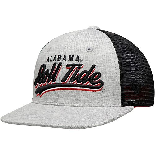 Youth Top of the World Gray Alabama Crimson Tide Cutter Adjustable Hat