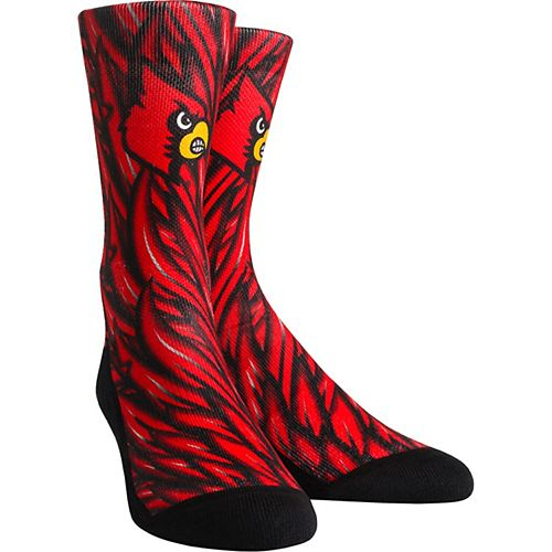 Youth Red Louisville Cardinals Localized Graphics Crew Socks