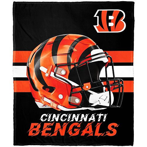 "The Northwest Company Cincinnati Bengals 50"" x 60"" Protector Silk Touch Throw"