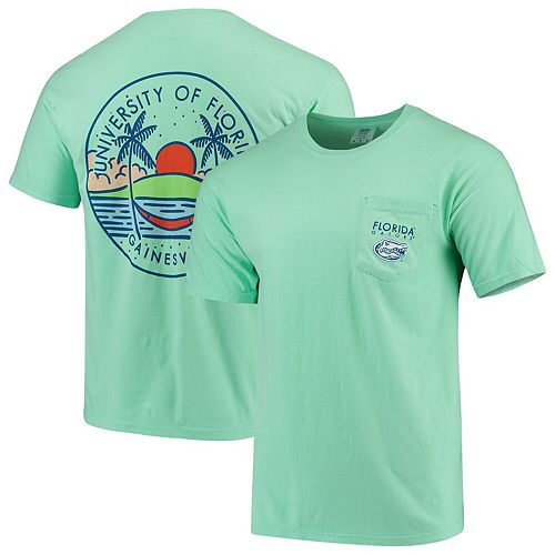 Men's Mint Green Florida Gators Circle Scene Comfort Colors Pocket T-Shirt