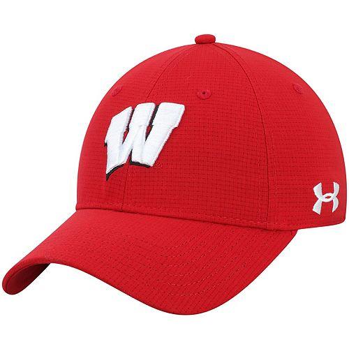 Men's Under Armour Red Wisconsin Badgers Sideline Airvent Performance Flex Hat