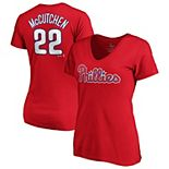 Andrew McCutchen Philadelphia Phillies Majestic Women's Official Player Name & Number V-Neck T-Shirt - Red