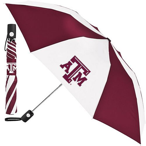 WinCraft White/Maroon Texas A&M Aggies 42'' Folding Umbrella