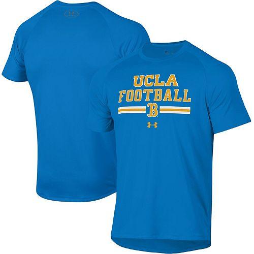 Men's Under Armour Blue UCLA Bruins Football Wordmark Tech 2.0 Performance T-Shirt