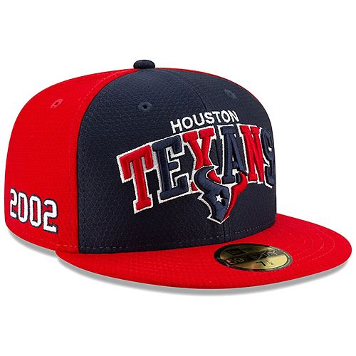 Men's New Era Navy/Red Houston Texans 2019 NFL Sideline Home Official 59FIFTY 1990s Fitted Hat
