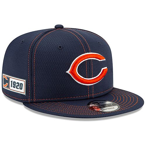 Men's New Era Navy Chicago Bears 2019 NFL Sideline Road Official Logo 9FIFTY Snapback Adjustable Hat