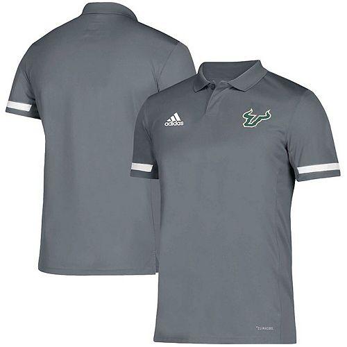 Men's adidas Gray South Florida Bulls Team climacool Polo