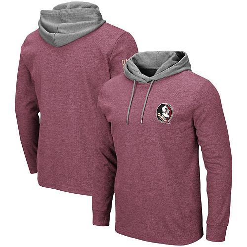 Men's Colosseum Garnet Florida State Seminoles Milhouse Hooded Long Sleeve T-Shirt