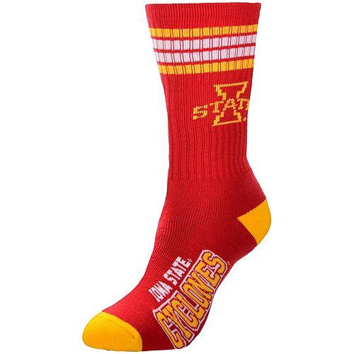 Women's For Bare Feet Iowa State Cyclones Four Stripe Socks
