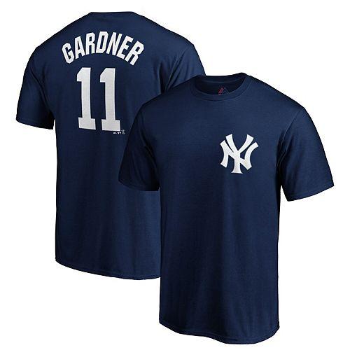 Brett Gardner New York Yankees Majestic Official Player Name & Number T-Shirt - Navy