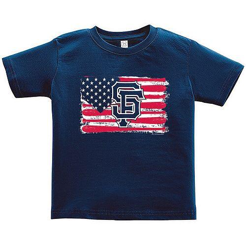 Toddler Soft as a Grape Navy San Francisco Giants Stars & Stripes Americana T-Shirt