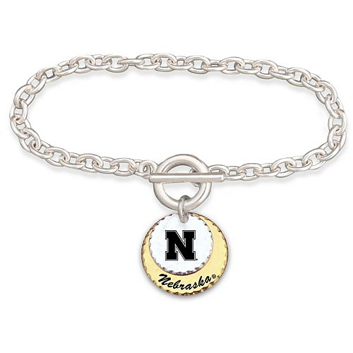 Nebraska Cornhuskers Women's Haute Stamp Bracelet