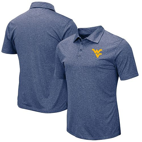 Men's Colosseum Navy West Virginia Mountaineers Adventurer Microstripe Polo