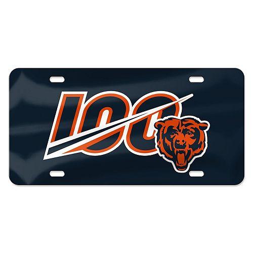 WinCraft Chicago Bears 100th Season Laser-Cut License Plate