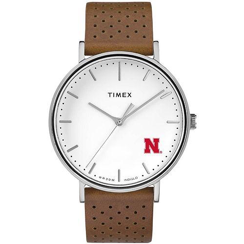 Timex Nebraska Cornhuskers Bright Whites Tribute Collection Watch