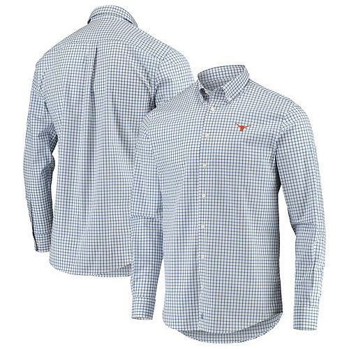 Men's johnnie-O Blue Texas Longhorns Alumni Button-Down Shirt