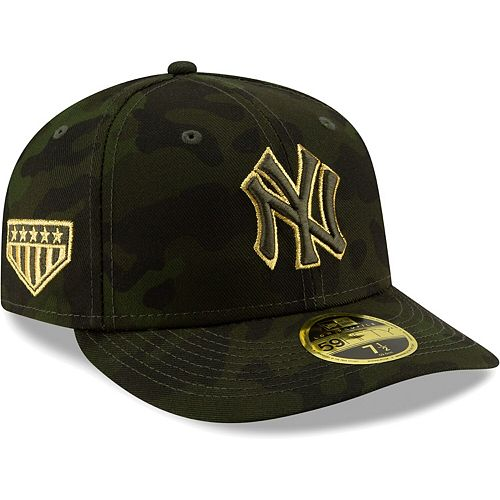 New York Yankees New Era 2019 MLB Armed Forces Day On-Field Low Profile 59FIFTY Fitted Hat - Camo