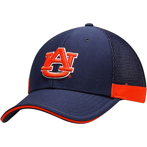 Men's Under Armour Navy Auburn Tigers Team Logo Sideline Blitzing Accent Adjustable Hat