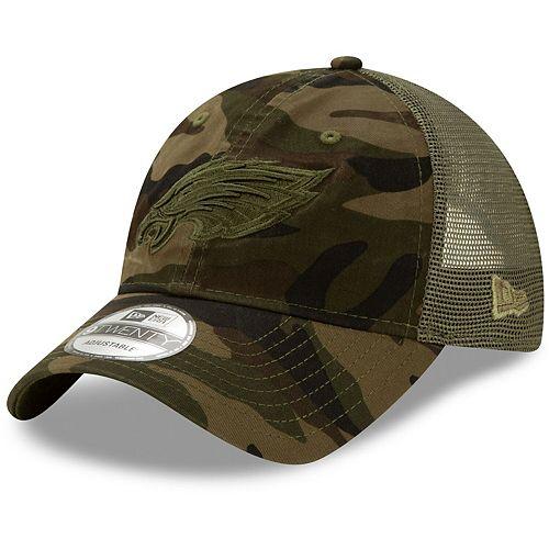 Men's New Era Camo Philadelphia Eagles Tonal Trucker 9TWENTY Adjustable Snapback Hat