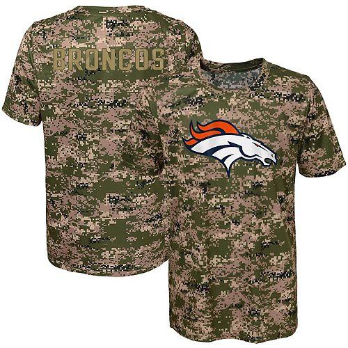 official photos 8db59 b1560 Youth Camo Denver Broncos Alpha Sublimated Dri-Tek T-Shirt