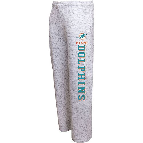 Men's Concepts Sport Heathered Gray Miami Dolphins Alley Space Dye Pants