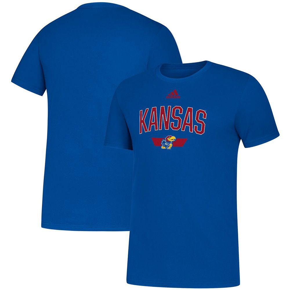 Men's adidas Royal Kansas Jayhawks Sideline Locker Arched Amplifier T-Shirt