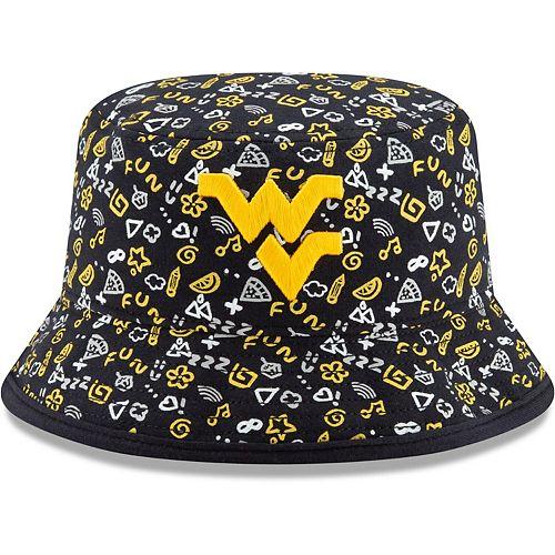 Toddler New Era Navy West Virginia Mountaineers Pattern Bucket Hat