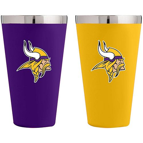 Minnesota Vikings Team Color 2-Pack Stainless Steel Pint Glass