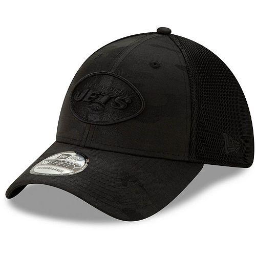Men's New Era Black New York Jets Camo Front Neo 39THIRTY Flex Hat